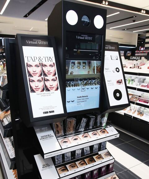 Sephora in store virtual artist