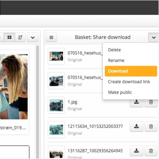 Easy to share visual material with Bizzkit DAM